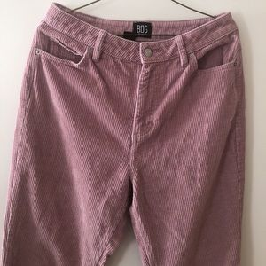 BDG Mom Jean Dusty Rose Thick Corduroy